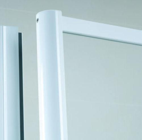 frameless top shower screen